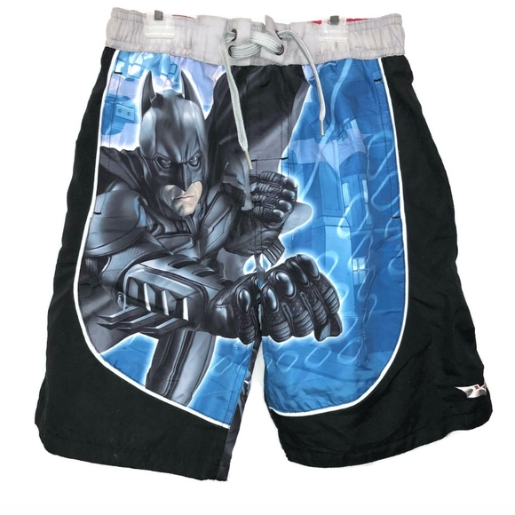 33c9caae33ad0 NWT BATMAN Dark Knight Sz 8 Board Shorts Boys Swim. NWT. DC Comics